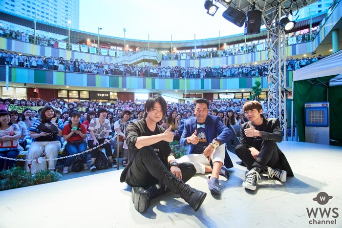 GLAYのTERUとJIROが名古屋・アスナル金山で行われた公開収録に出演!会場にファン4000人が殺到!