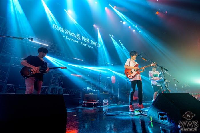 【ライブレポート】キュウソネコカミがmusicるFES 2017で熱狂ライブ!筋斗雲の上で叫ぶ「ヤンキー怖い」