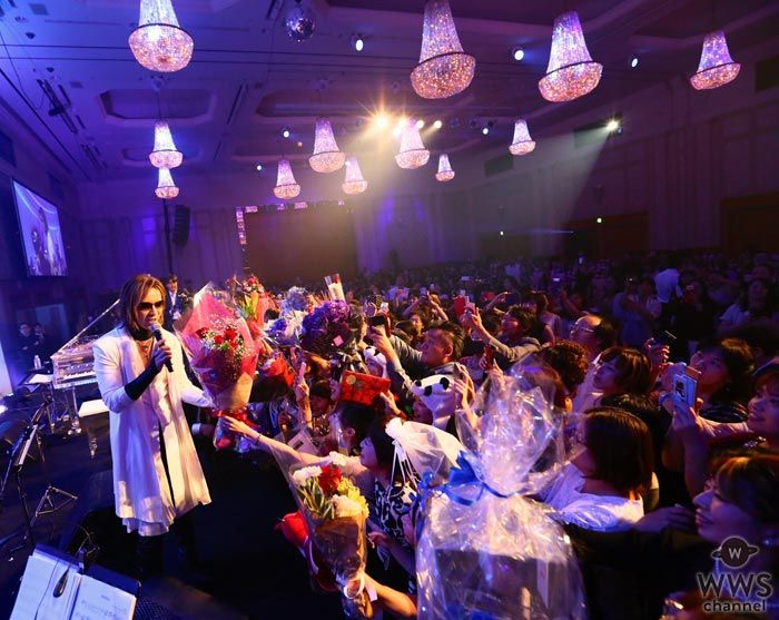 X JAPAN YOSHIKIのプレミアムディナーショーが初開催となる名古屋で初日開幕!年に一度だけの至近距離のYOSHIKIに会場中が大興奮!