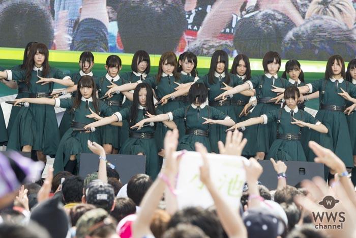 欅坂46、けやき坂46がTIF2017に登場!クール&キュートで魅せる圧巻のライブパフォーマンスを披露!