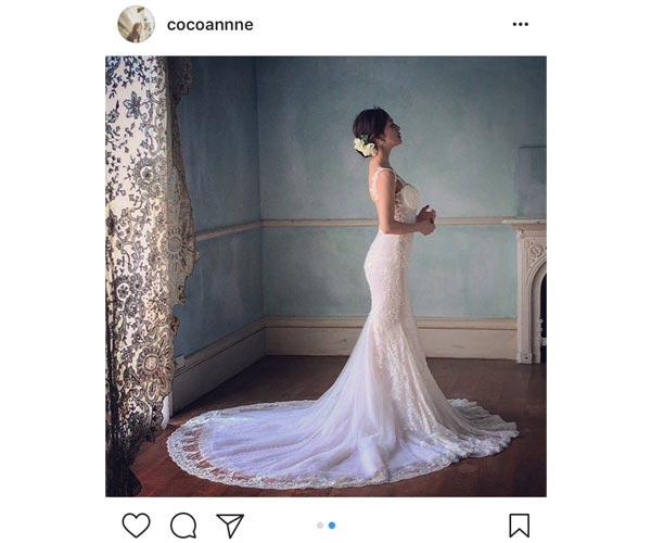 中村アンがウェディングドレス姿でセクシーな美背中を披露!「美しい以外の言葉が見つからない」と絶賛の声!
