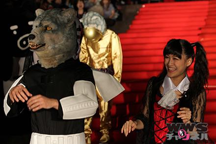 【赤坂ハロウィン2014】狼バンドMAN WITH A MISSION(マン ウィズ ア ミッション)がレッドカーペットに登場!