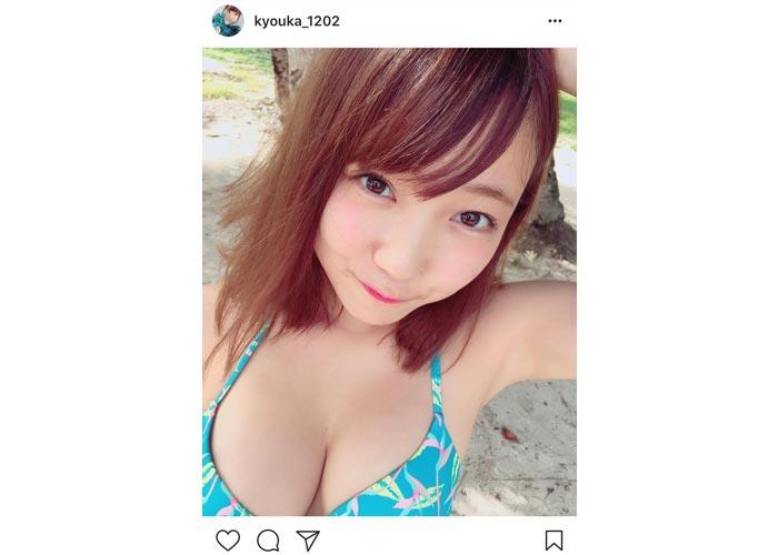 夢アド 京佳がセクシーすぎる水着姿を披露!「今世紀最高のおっぱい!」に絶賛コメント殺到!