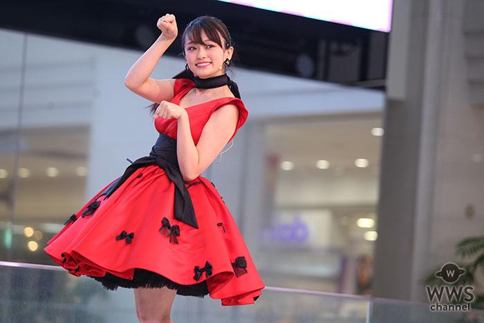 山地まりがデビューシングル発売イベントで可愛すぎるフリフリの赤衣装で熱唱!「渋谷のO-EASTぐらいでライブ出来たら嬉しい。いずれはMステ出演も(笑)」