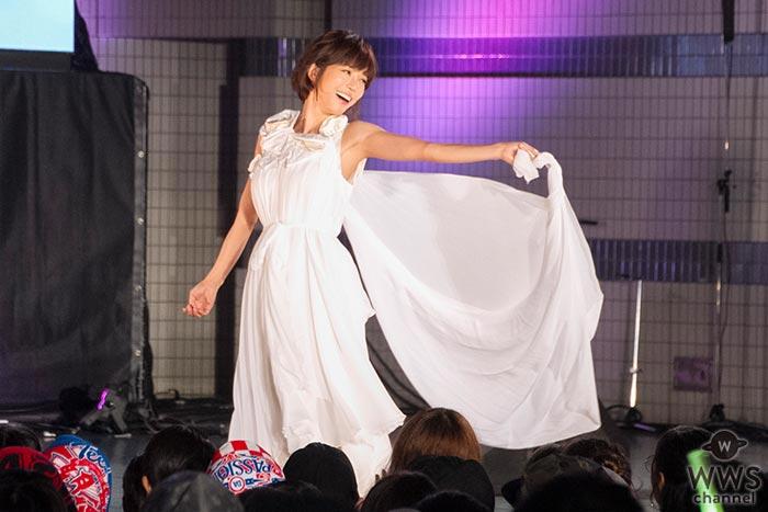 釈由美子が天使のような美しい姿でスポーツ・オブ・ハート2017 ファッションショーに登場!