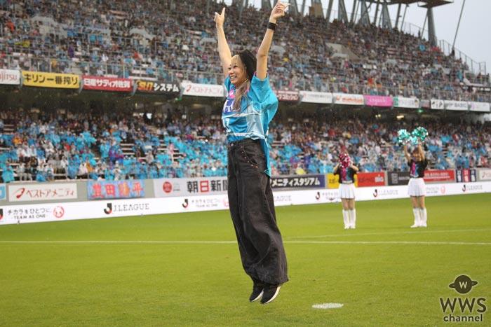 倖田來未がJリーグで初ゴール!サポーターからも「ク・ミ・コ・ウ・ダ」と歓喜の声援!