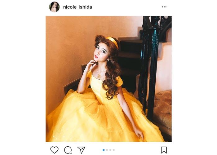 石田ニコルが美女と野獣のベル風衣装を身につけた可愛すぎる姿を披露!「本当にベルみたい」と絶賛の声!