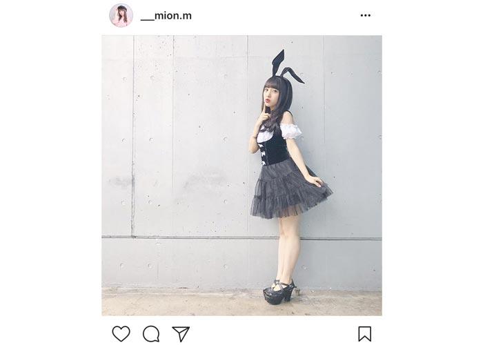 AKB48 向井地美音が超絶可愛い黒バニーガール姿を披露!「みーおん可愛すぎ罪」と歓喜の声!