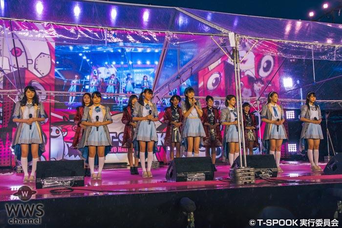 ラストアイドルの暫定メンバーとセカンドユニット Good Tearsが『T-SPOOK』で大雨の中、初のイベント出演!