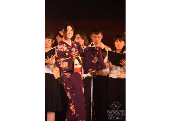 倉木麻衣が京都学生祭典に15年ぶりに登場!学生とのコラボレーションで平安神宮を前に2曲を熱唱!