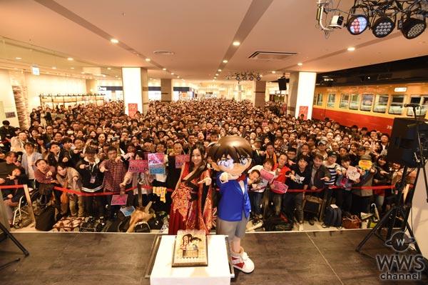 倉木麻衣が誕生日にリリースイベント開催!コナンくんも駆けつけて会場一体のサプライズお祝いに感動の涙!
