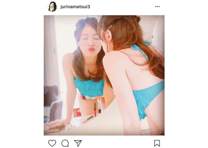 SKE48 松井珠理奈が大人SEXYな水着姿のお気に入りショットを披露!