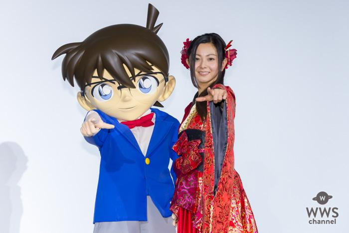倉木麻衣が劇場版・名探偵コナンBlu-ray・DVDに発売記念イベントに登場!キャラになりきった短歌やミニライブを披露!