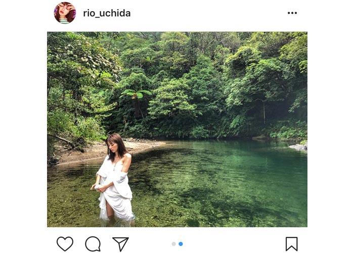 内田理央が大自然に囲まれたセクシー水着オフショットを披露!「可愛すぎて疲れ飛んだ」と歓喜の声!