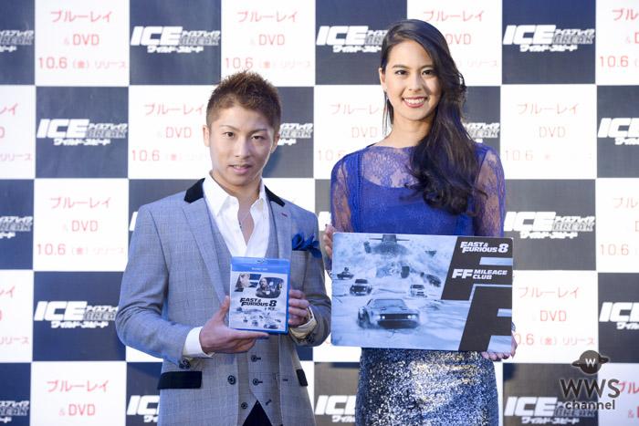 井上尚弥、阿部桃子が映画『ワイルド・スピード ICE BREAK』Blu-ray&DVDリリース記念イベントでネクストブレイク芸人を判定!?
