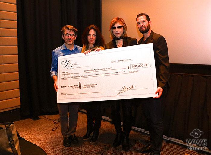 X JAPAN・YOSHIKI 家を失った ハリケーン米国被災者支援のために 11,270,000円(100,000ドル)を寄付!