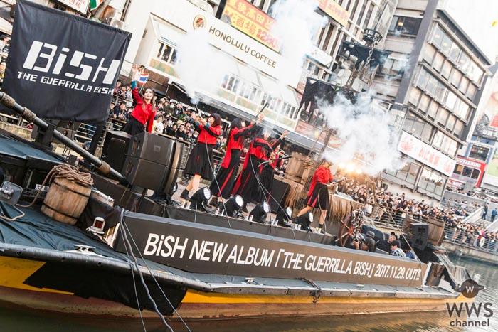 BiSHが道頓堀にて海賊船ゲリラライブを開催!「お騒がせしました、サンキュー!」