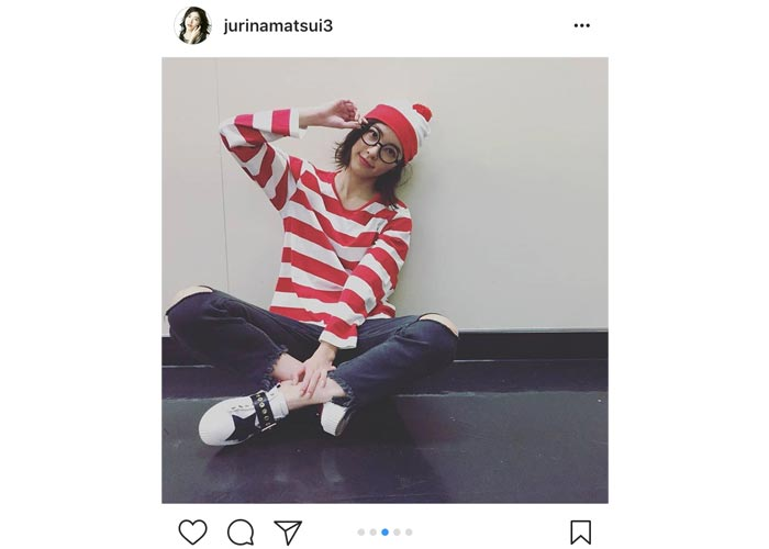 SKE48 松井珠理奈がハロウィンにキュートなウォーリー姿を連発!「ジューリーは可愛いすぎるから、一目でわかるよ」と歓喜の声!