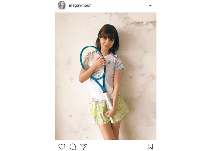 マギーのテニスウェア姿の後輩キャラが可愛すぎると話題に!「いやあ、これは反則だわ」