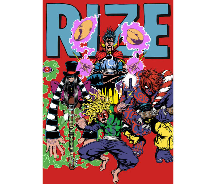 RIZE、ヴォーカルJESSEが監督を務める3部作のミュージックビデオ最終章、日仏合作のフルアニメーションを解禁!