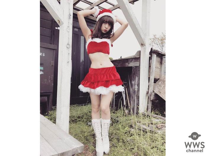 渡邉幸愛(SUPER☆GiRLS)がキュートなセクシーサンタコスを披露!美くびれショットに釘付け!