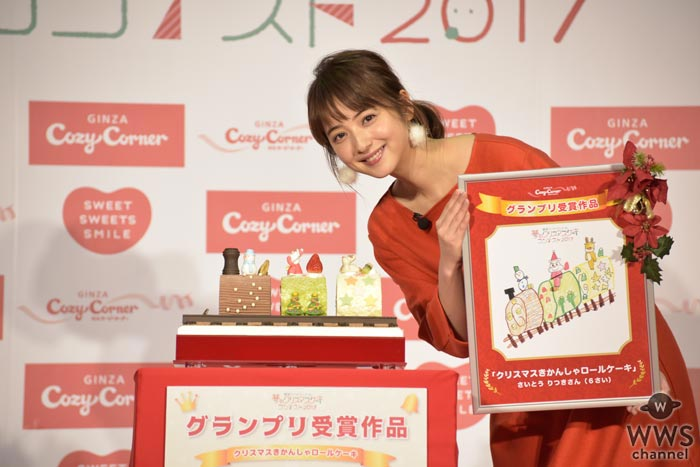佐々木希が夢のクリスマスケーキお披露目に感動!「かなりインスタ映えすると思います!」