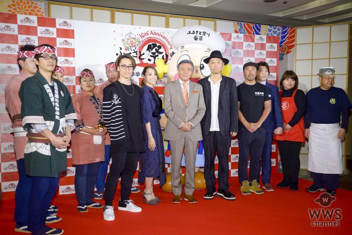 USA、TETSUYA、ShizukaとDANCE EARTH PARTYの3人が『ふるさと祭り東京2018』のナビゲーターに勢揃い!ご当地食材の試食で満面の笑み!