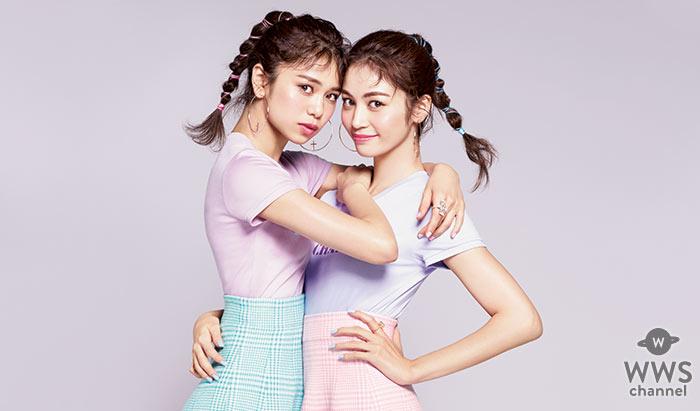 E-girls の楓と佐藤晴美が 「CanCam」のカバーをジャック!バービー人形風の衣装を着て、かわいいピンナップ風撮影に挑戦!