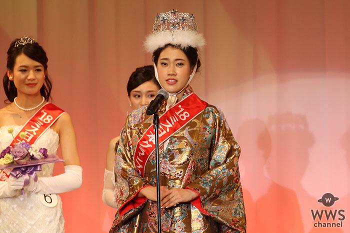 第50回ミス日本グランプリは名古屋市出身、会社員・市橋礼衣(いちはし のりえ)(23歳)が輝く!「スターの道を歩み続けた山口百恵さんを目指したい」