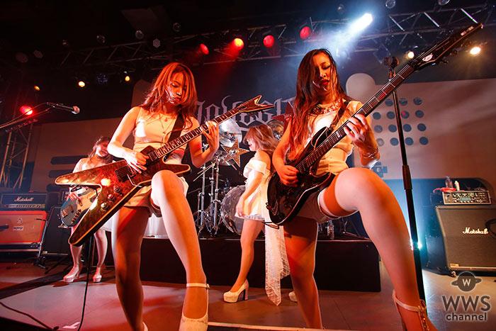 ガールズメタル・バンドLOVEBITES、渋谷duo MUSIC EXCHANGEで激しくもセクシーなライブパフォーマンス!6月の最新ミニ・アルバム発売と新たな単独公演開催、さらにWarped Tour Japanへのフェス初参戦も表明。
