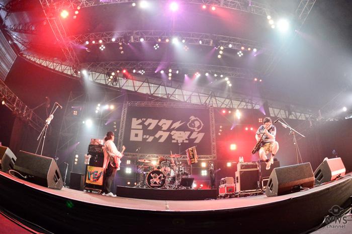 【ライブレポート】3人組パンク ロックバンド・サンボマスターが登場!陽気なビートで幸福感を生み出す全6曲披露!<ビクターロック祭り2018>
