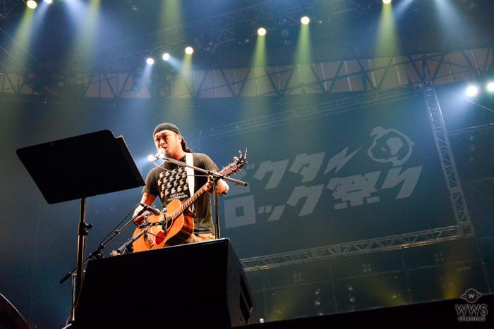 【ライブレポート】竹原ピストルがアコースティックギター1本で登場!温かさと優しさに満ちたステージでオーディエンス心を丸ごと鷲掴みに!<ビクターロック祭り2018>