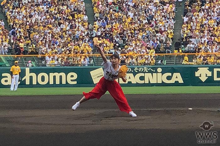 足立佳奈 夢の甲子園で大緊張の中、始球式にて豪速球を披露!