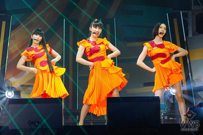 【ライブレポート】Perfumeが「晴れ」をイメージしたネオンオレンジのワンピースで繊細かつ大胆なダンス!人気曲『ポリリズム』『チョコレイト・ディスコ』はもちろん、新作より『無限未来』も披露!
