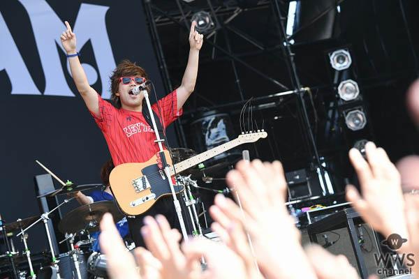 【ライブレポート】KEYTALK、JAPAN JAM 2018で『Summer Venus』含む全9曲披露!寺中、「さぁさぁさぁ、両手を空に掲げてー!」SKY STAGE会場全員が青空を仰ぐ!