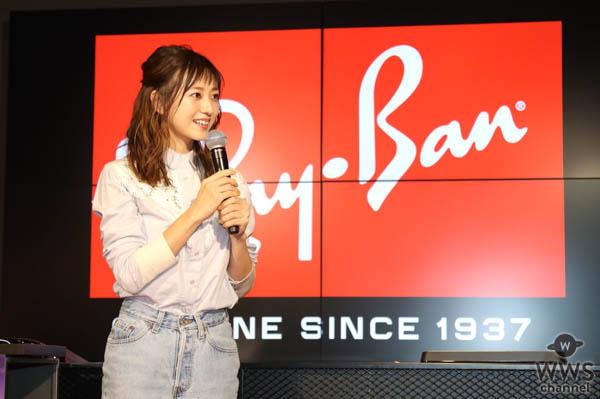 伊藤千晃がショートパンツ姿の夏コーデで渋谷のRay-Banフラッグシップ店に登場!「サングラスはピンクが好き。普段使いにしたい」
