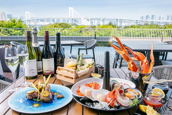 ヒルトン東京お台場 心地良い風を感じながら東京湾の絶景を望むテラスが 9 月末までオープン!