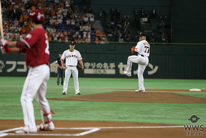 EXILE関口メンディー、東京ドームで行われた人生初の始球式で圧巻の133キロを記録しプロ顔負けの投球を披露!