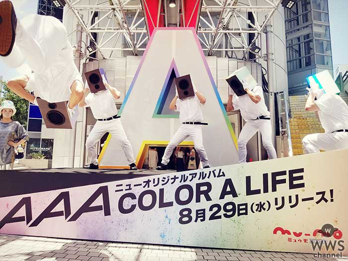 SHIBUYA109に巨大スピーカー出現!AAA、新曲「DEJAVU」解禁!