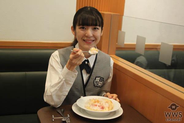 【動画】現役女子高生がデニーズでボリューム満点の桃デザートを完食!
