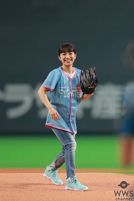 miwa、ノーバンの神ピッチング?!日本ハムファイターズ女性向けイベント『ヒロイン(ハート)デイズ』で人生初の始球式に登場