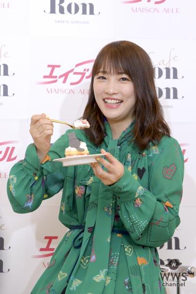 川栄李奈、回転スイーツに「10皿行けそう!」回転スイーツカフェのオープニングイベントに出席!!