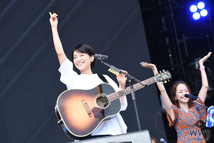 【ライブレポート】miwaが9年目のROCK IN JAPAN参戦! 7月発売ベストアルバムの曲を中心に、GRASS STAGEへ爽やかな風を巻き起こす!