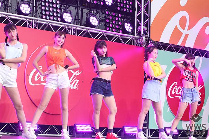 【ライブレポート】Chuning Candy(チューニングキャンディー)が夏らしいヘソ出しファッションで野外ライブパフォーマンス!