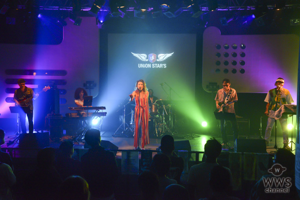 アーティスト・SaashaがSweet Childとコラボステージ!『Fly』を想いを込めて歌い上げる<UNION STAR'S 2018>