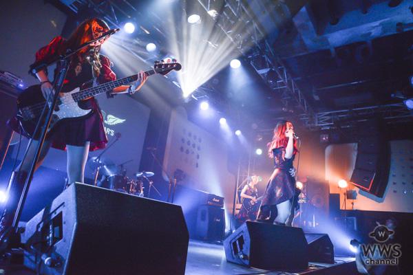 レジスタンス系ガールズロックバンド・Noble rebelがライブステージに登場「一年でこれだけ成長しました!」と高らかに宣言!!<UNION STAR'S 2018>
