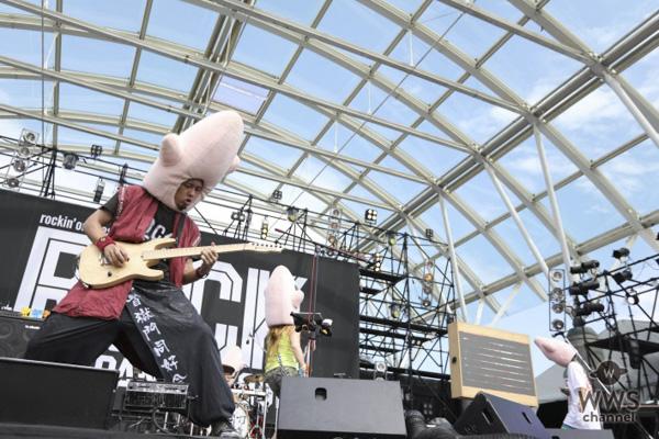 打首獄門同好会が「ROCK IN JAPAN FESTIVAL 2018」3日目のLAKE STAGEに堂々の登場!魚!肉!米!そして歯?歯科医師ラッパーまでゲスト参戦し、食べ物の曲でアゲまくる。