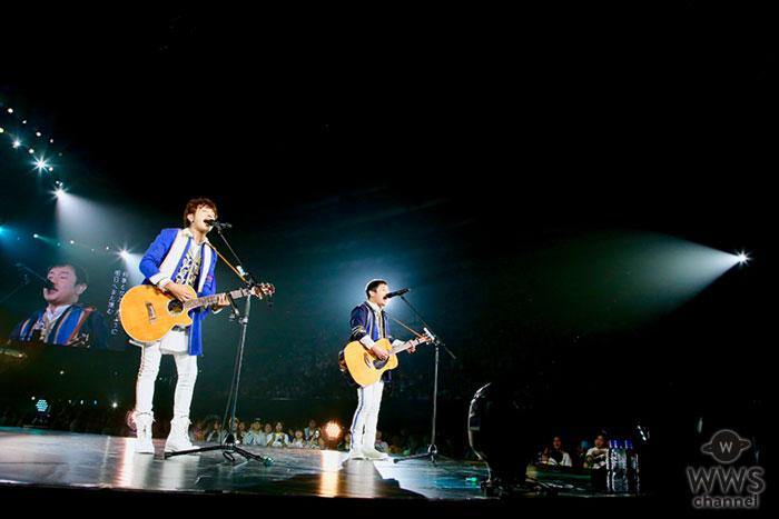 """ゆず、4 カ月におよぶ""""33 万人動員""""BIG YELL ツアー完走!巨大BIGYELL号&青白歌合戦&新曲披露など、 一大エンターテインメントライブ!!"""