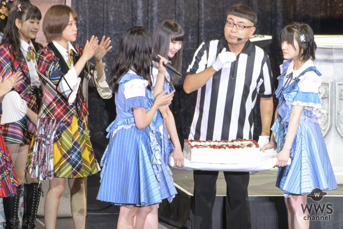 SKE48・大場美奈、古畑奈和が、イジリー岡田の誕生日祝福! <AKB48グループ 第2回ユニットじゃんけん大会>