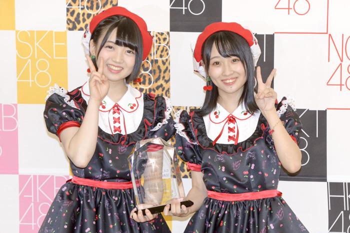 AKB48グループ・無名の新人2人組「Fortune cherry(フォーチュン・チェリー)」が「ユニットじゃんけん大会」の2代目女王に!『さくらんぼ』と『福井の未来』に感謝!<AKB48グループ 第2回ユニットじゃんけん大会>